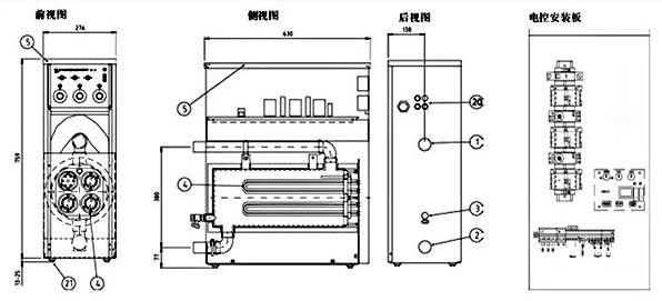 取暖锅炉堆煤机电路图