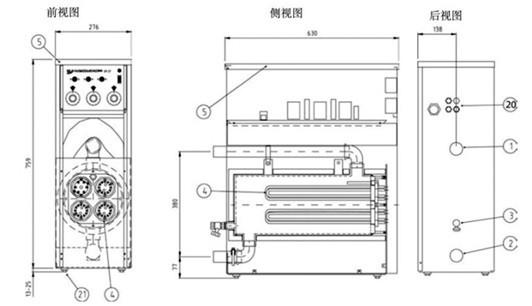 电加热锅炉电源接线图