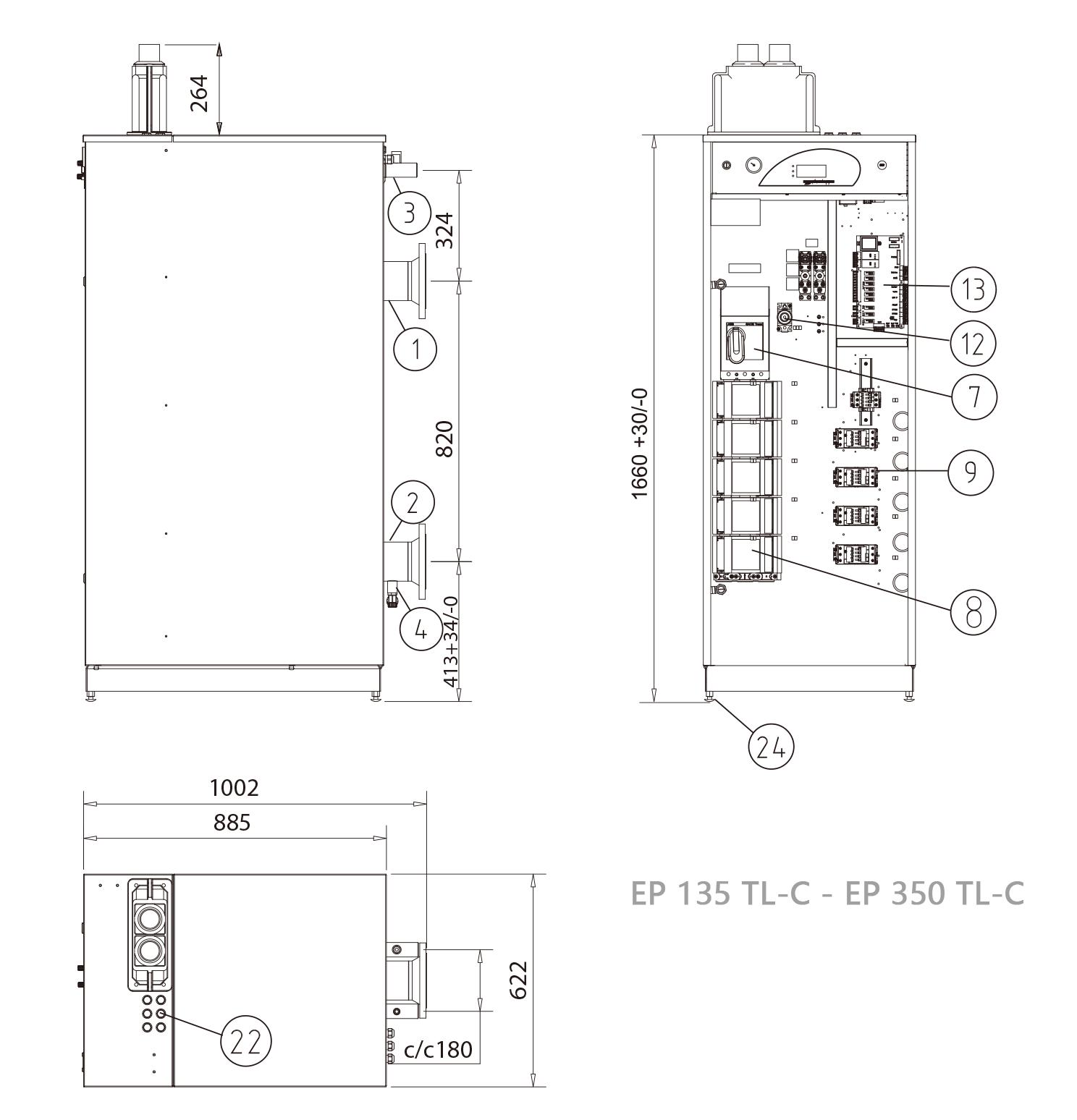 威美博尼商用电热水模块锅炉EP 112-350 TL-C