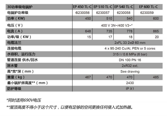威美博尼商用电热水模块锅炉EP 450-600 TL-C